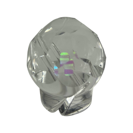 OTP Clear Faceted Marble w/ Opal Spinner Cap